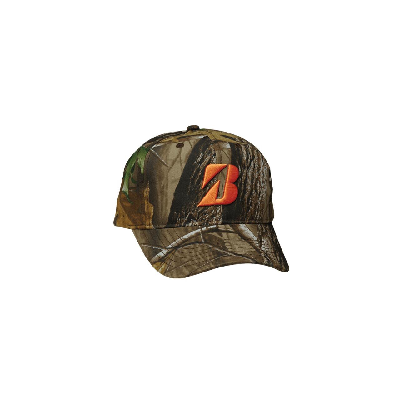 bridgestone golf realtree adjustable hat with orange logo