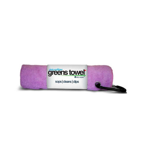 Microfiber Greens Towel - Awareness Pink