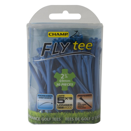 "Champ Zarma Fly 2 3/4"" Plastic Tees (30 Count) Blue"
