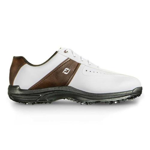 Footjoy Greenjoys Golf Shoes White Brown
