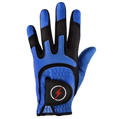 PowerBilt Men's One-Fit Golf Glove - Blue