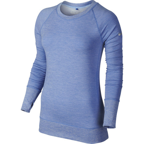 Nike Golf Women's Bunker Crew Top - Chalk Blue/White/Metallic Silver