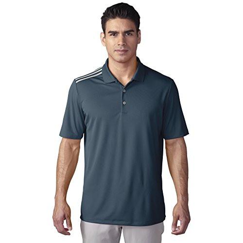 adidas Golf ClimaCool 3-Stripes Polo Shirt - Mineral Blue