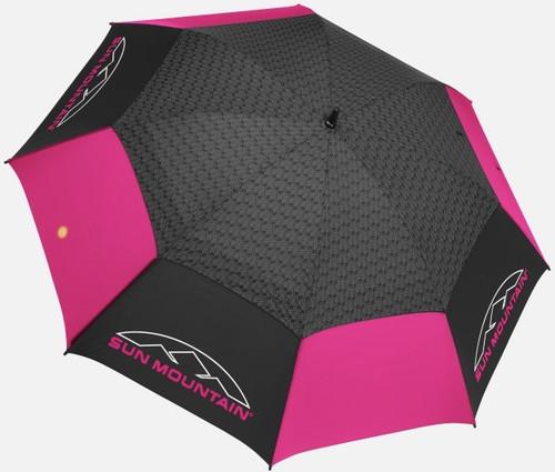 Sun Mountain Golf Manual Uv Umbrella Black Pink
