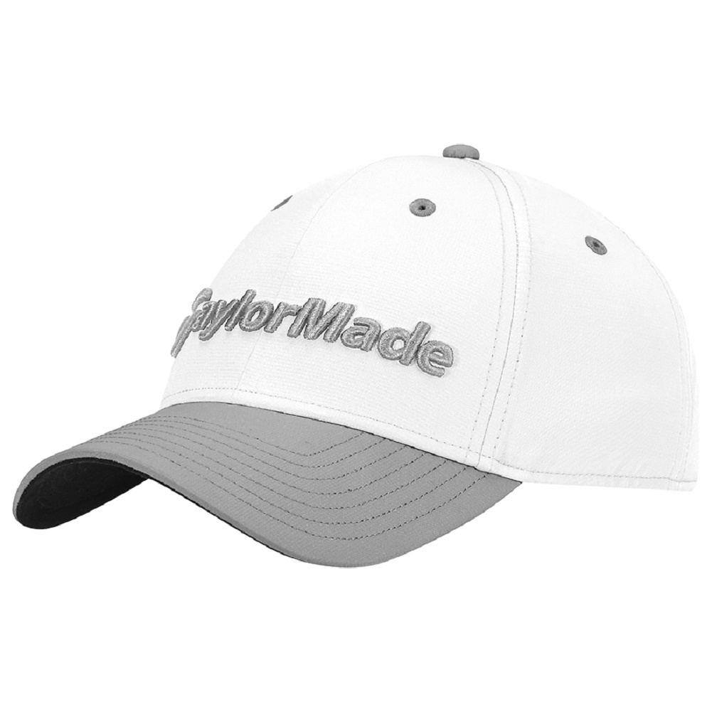 TaylorMade Performance Seeker Adjustable Golf Hat - White Gray ... 3fc3a21b6213