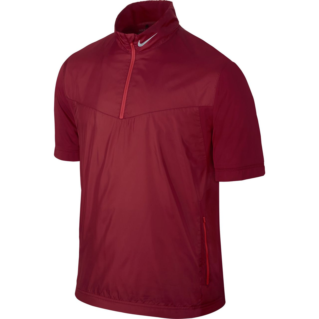 Nike Golf Shield SS 1/2-Zip CLASSIC CHARCL/BLACK/Grey XL - Gym Red/Daring  Red/Wolf Grey