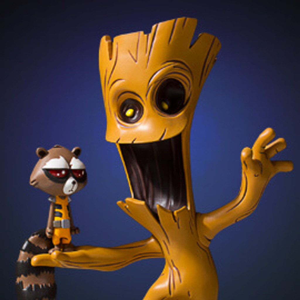Groot And Rocket Animated Statue