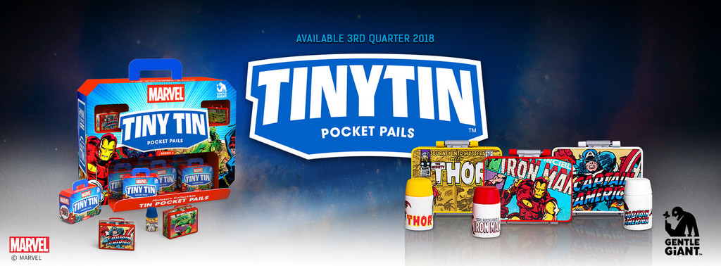 Marvel - Tiny Tin Pocket Pails - 2 Pack