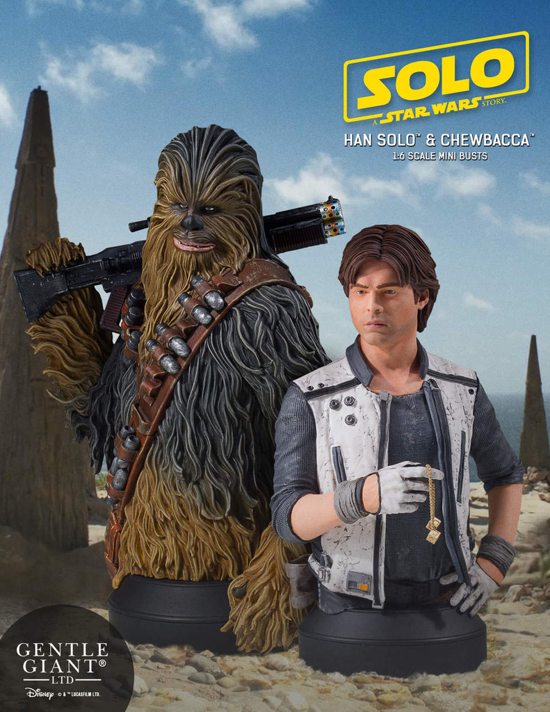 Han and Chewbacca (Solo: A Star Wars Story) Mini Bust Bundle