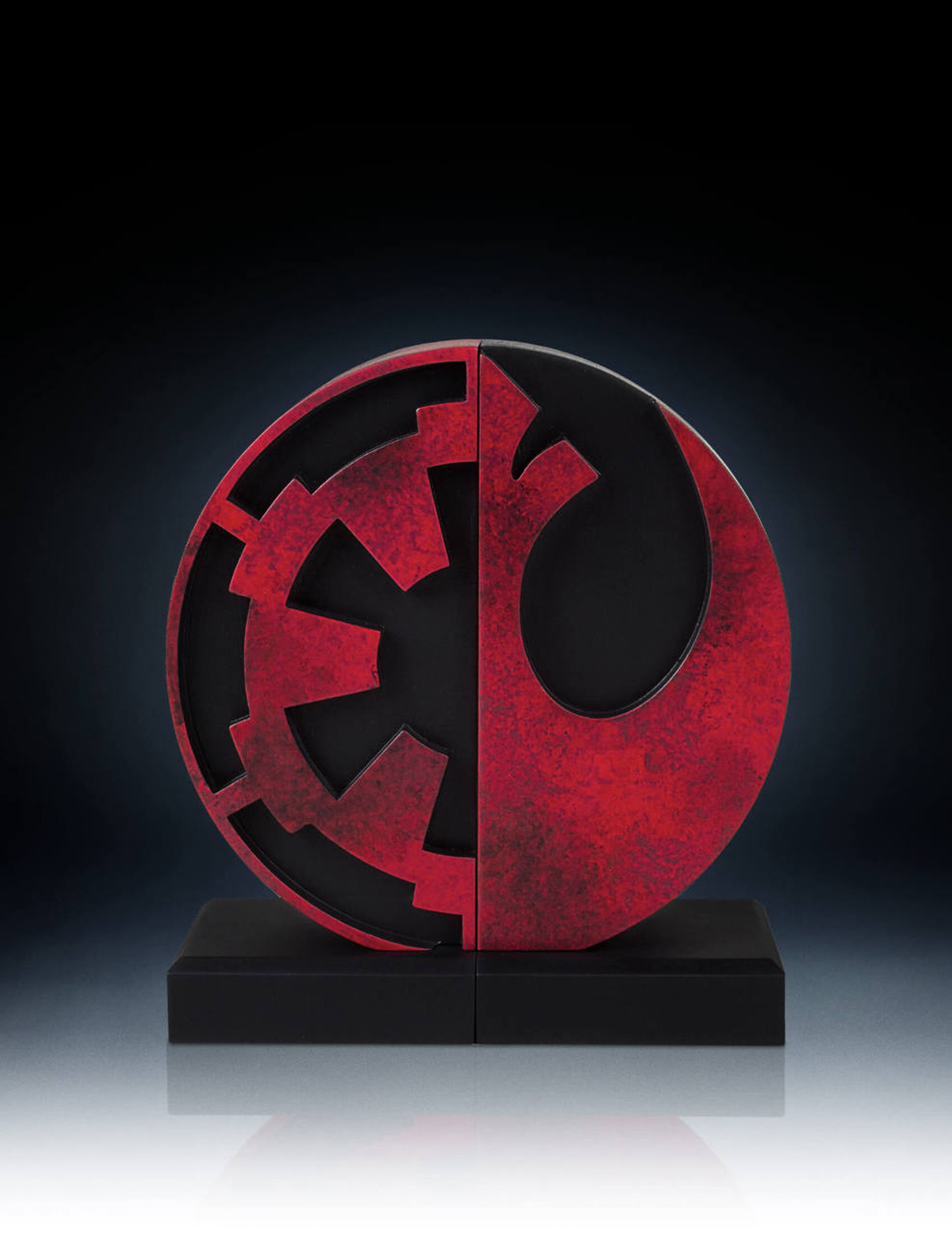 imperial and rebel seal bookends collectible gentle giant