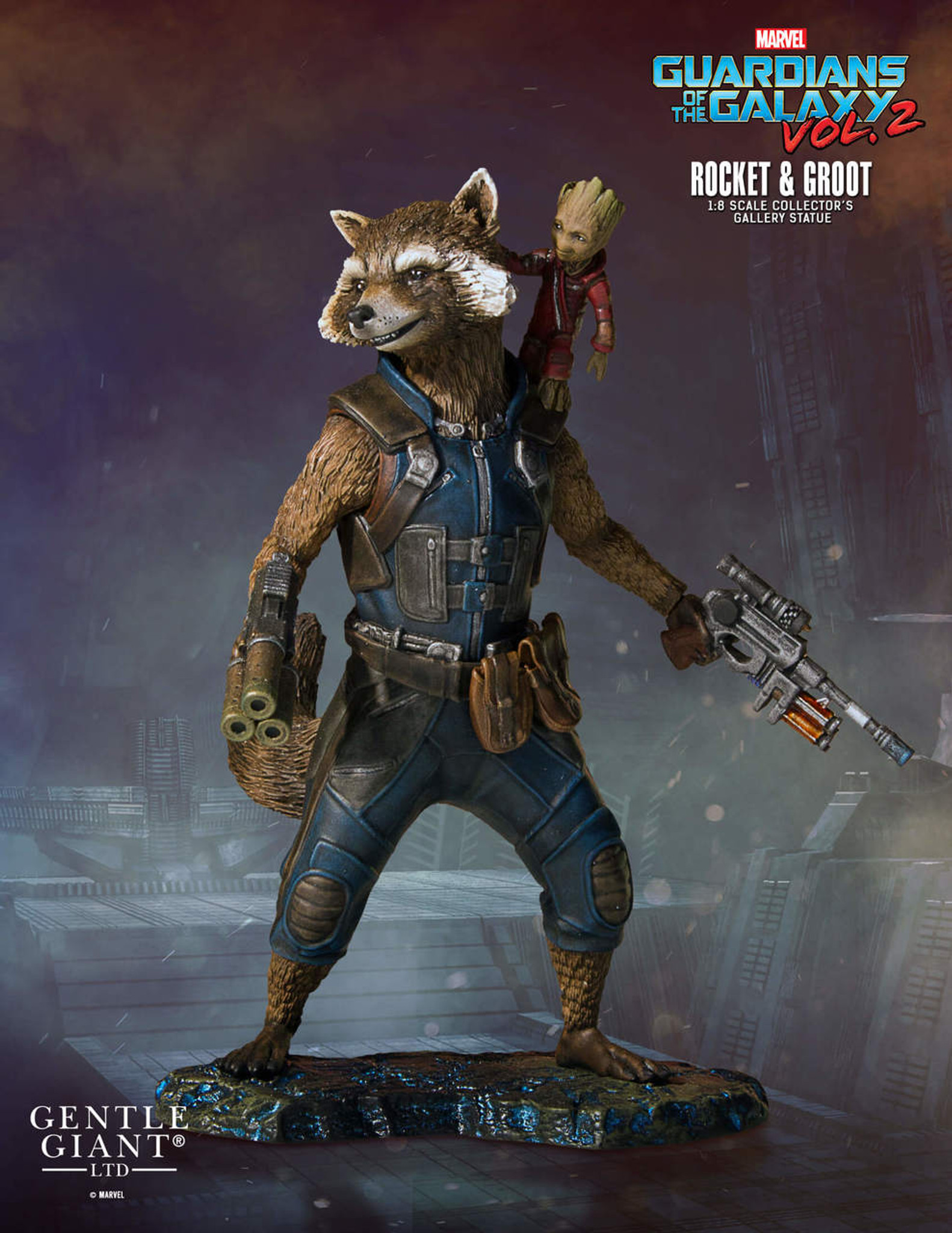 rocket and groot guardians of the galaxy vol 2 collectors gallery
