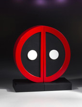 Deadpool Logo Bookend Set