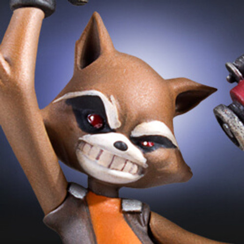 Rocket Raccoon Animated Statue - 2016 Convention Exclusive