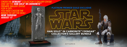 Dengar and Han Solo in Carbonite Collector's Gallery Bundle