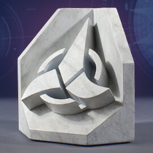 Star Trek (Klingon) Faux Marble Bookend