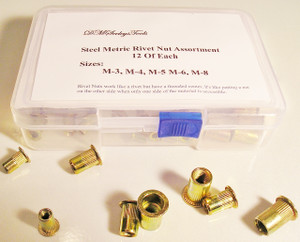Steel Rivet Nut Threaded insert assortment.