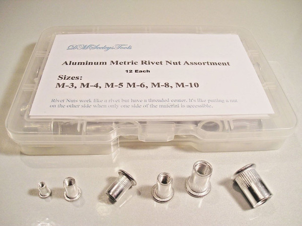 Rivet Nut Threaded Metric Insert Assortment Home Work Shop Repair Kit Free S.H.