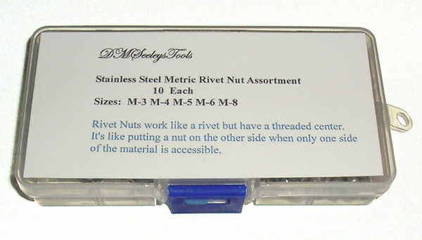 Rivet Nut Threaded Metric Stainless Steel riv nut Assortment Home & Shop Kit