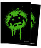 Turn One Gaming - Deck Protector - 50 Count - MATTE - Space Invaders Grafitti