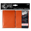 Ultra Pro ECLIPSE PRO-Matte Deck Protector - Standard Size Non-Glare Card Sleeves - 80 Count - ORANGE