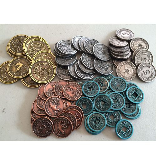 Scythe - Metal Coins  - Board Game Accessory - Greater Than Games