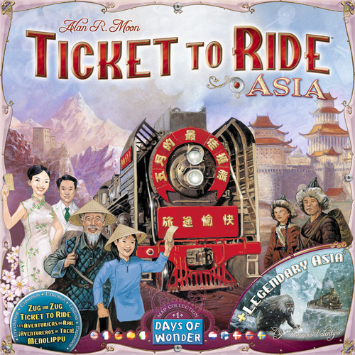 Ticket To Ride - Asia & Legendary Asia - Map Collection #1 - Board Game - Days of Wonder