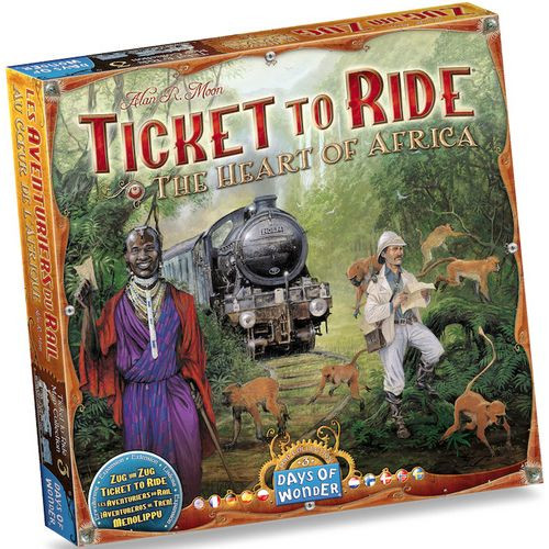 Ticket To Ride - The Heart of Africa - Map Collection #3 - Board Game - Days of Wonder