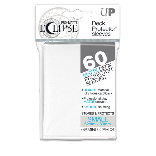 Ultra Pro ECLIPSE PRO-Matte Deck Protector - Small Size Non-Glare Card Sleeves - 80 Count - WHITE