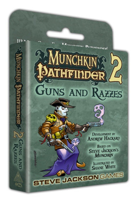 Munchkin Pathfinder 2 - Guns and Razzes - Card Game Expansion - Steve Jackson Games