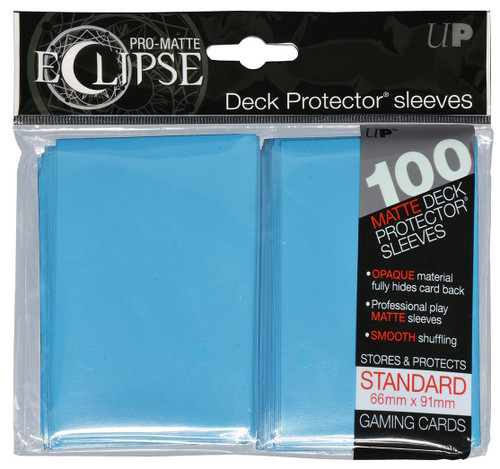 Ultra Pro ECLIPSE 2.0 PRO-Matte Deck Protector - Std Size Non-Glare Card Sleeves - 100 Count - SKY BLUE