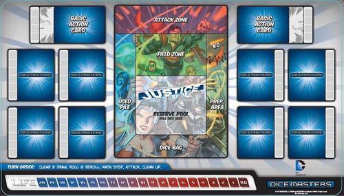 Dicemasters - Official Playmat - DC Comics - Justice League  - WizKids