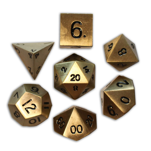 Norse Foundry - Bronze Dragon Scale - 16-22mm RPG Polyhedral Dice  (Set of 7)