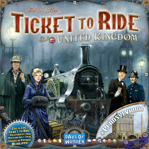 Ticket To Ride - UK & Pennsylvania Map - Map Collection #5 - Board Game - Days of Wonder