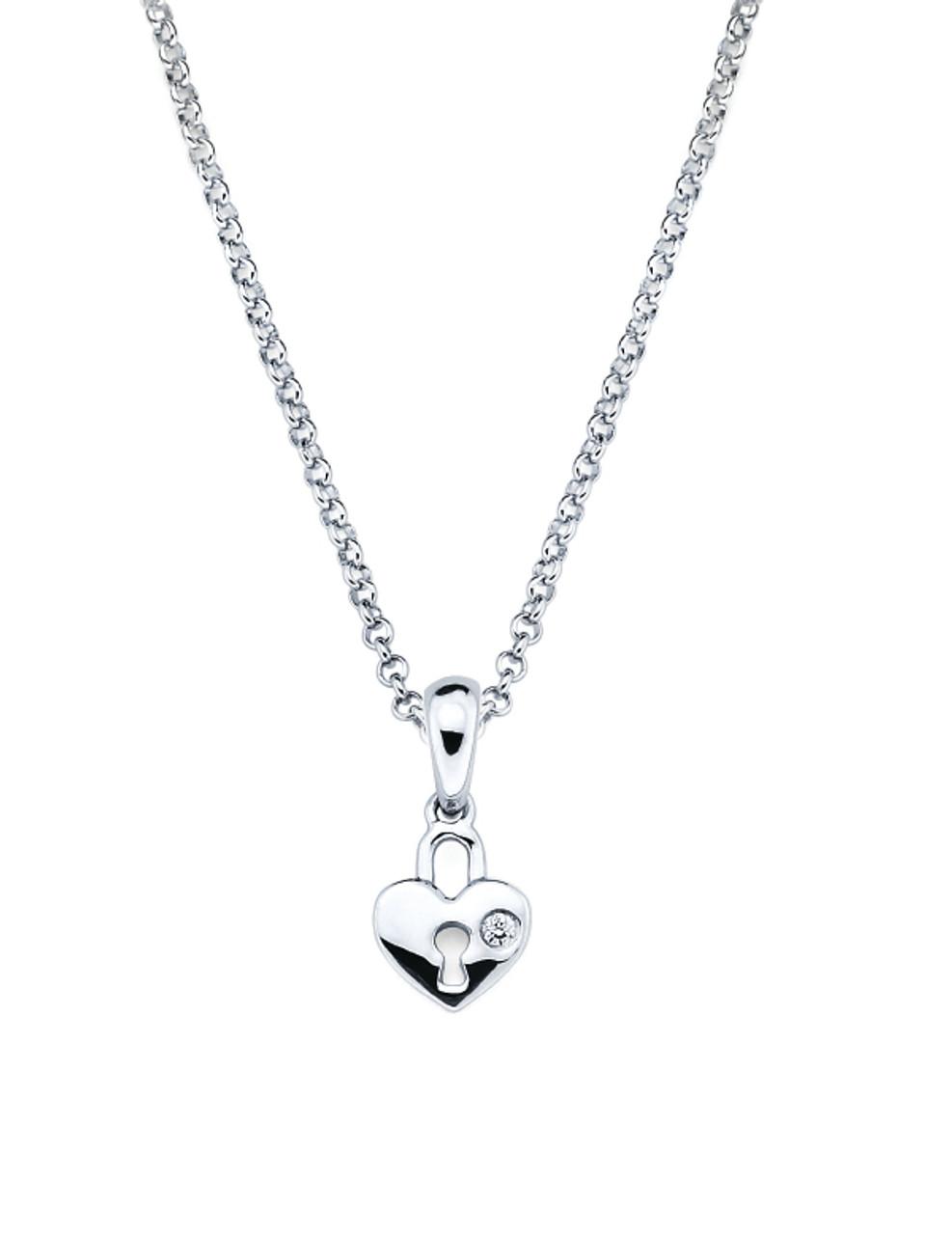 Heart lock pendant necklace aurumi fine jewelry heart lock pendant necklace aloadofball Gallery