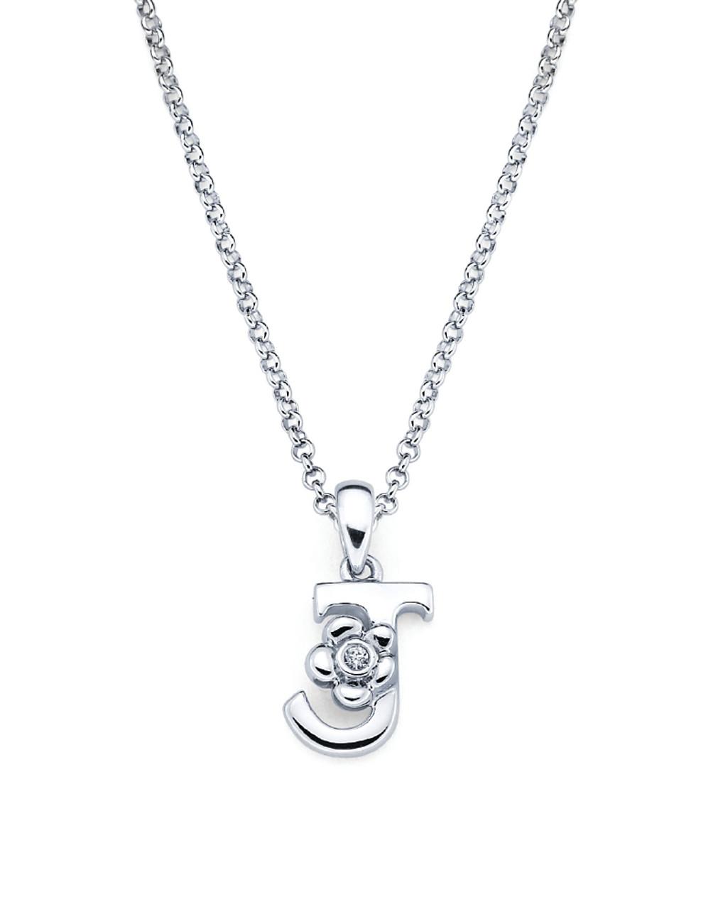 Initial pendant necklace letter j aurumi fine jewelry initial pendant necklace letter j aloadofball Gallery