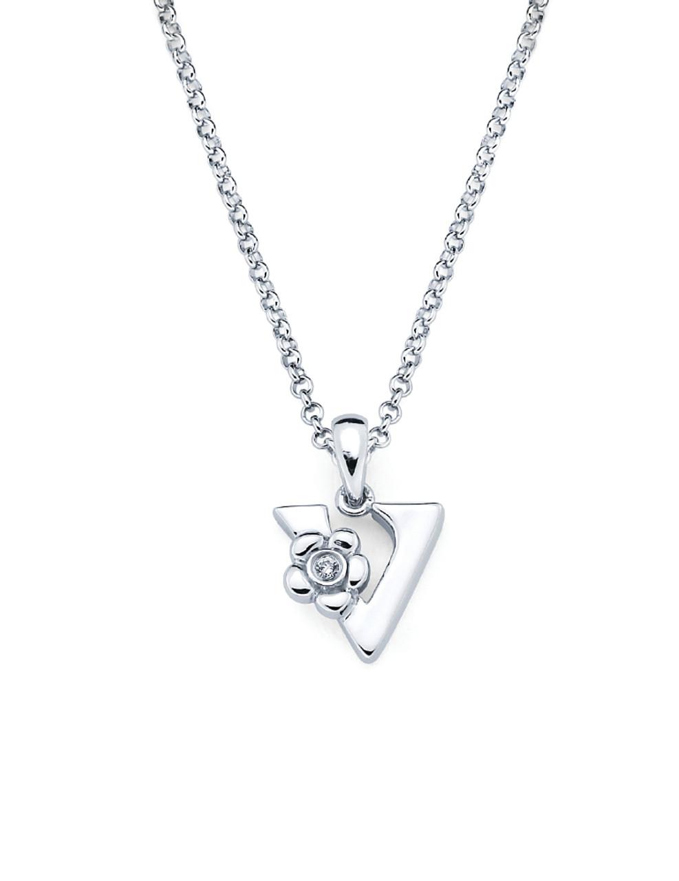 Initial pendant necklace letter v aurumi fine jewelry initial pendant necklace letter v mozeypictures Gallery