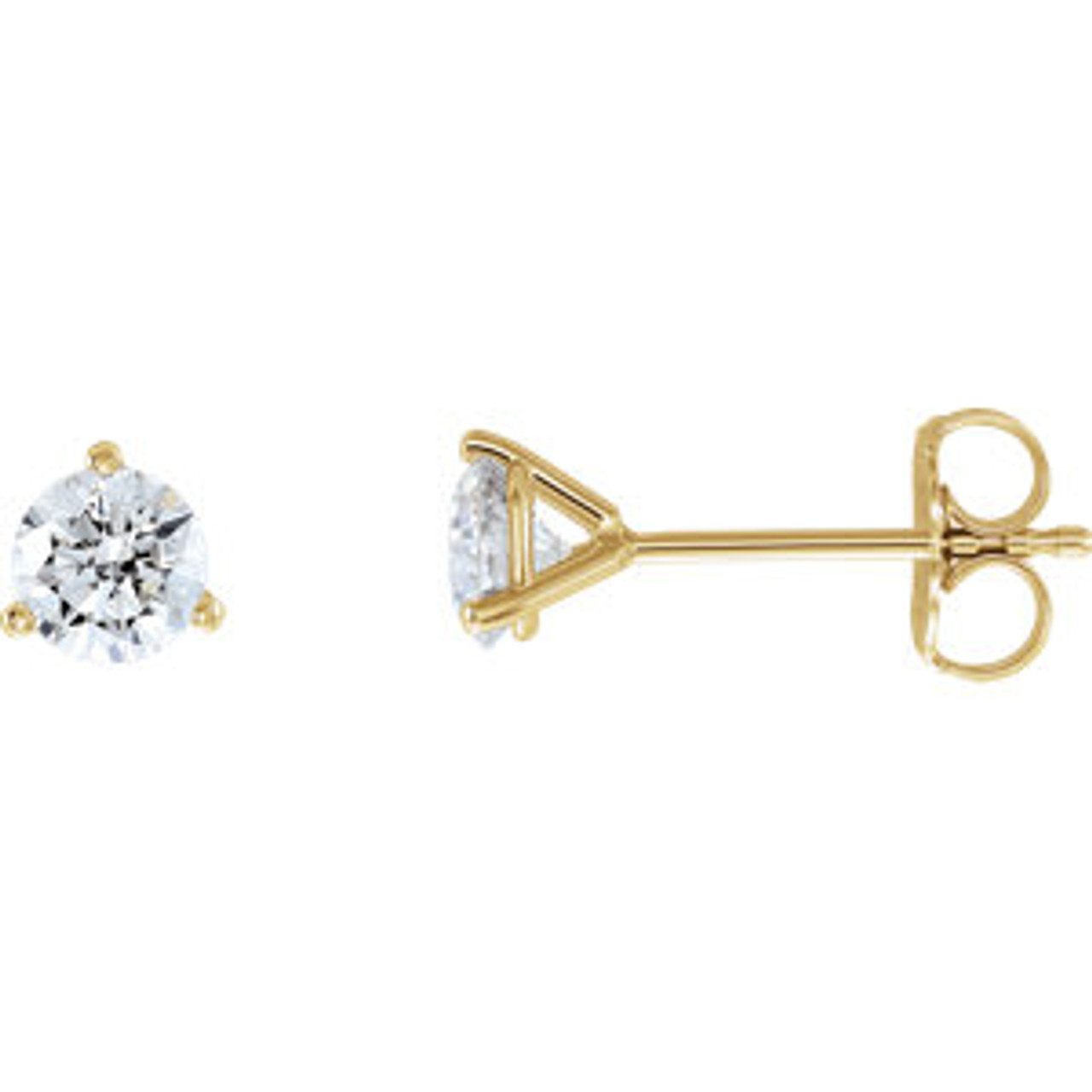 14k Yellow 3 4 Ctw Lab Grown Diamond Stud Earrings