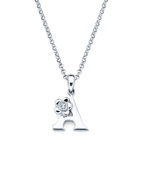 Initial Pendant Necklace - Letter A