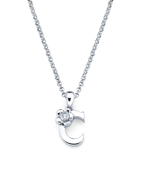 Initial Pendant Necklace - Letter C