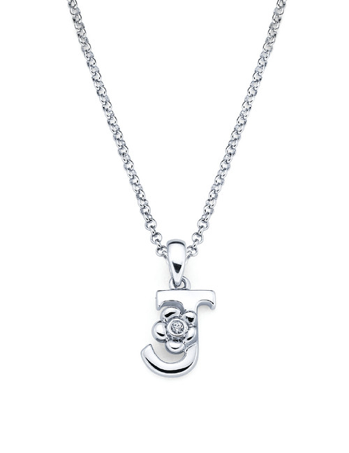 Initial Pendant Necklace - Letter J