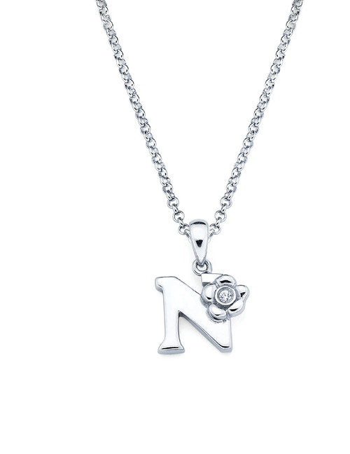 Initial pendant necklace letter n aurumi fine jewelry initial pendant necklace letter n aloadofball Gallery