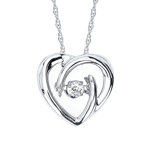 .05 Ct. Diamond Heart Pendant Necklace