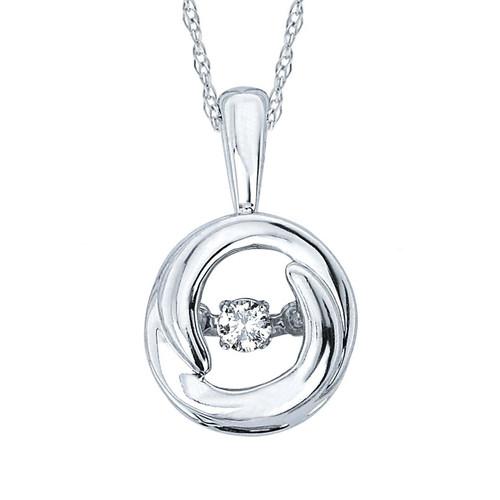 .05 ct. Diamond Circle Pendant Necklace