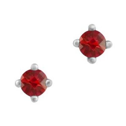 Sterling Silver 3.25mm (CZ) Birthstone Stud Earrings