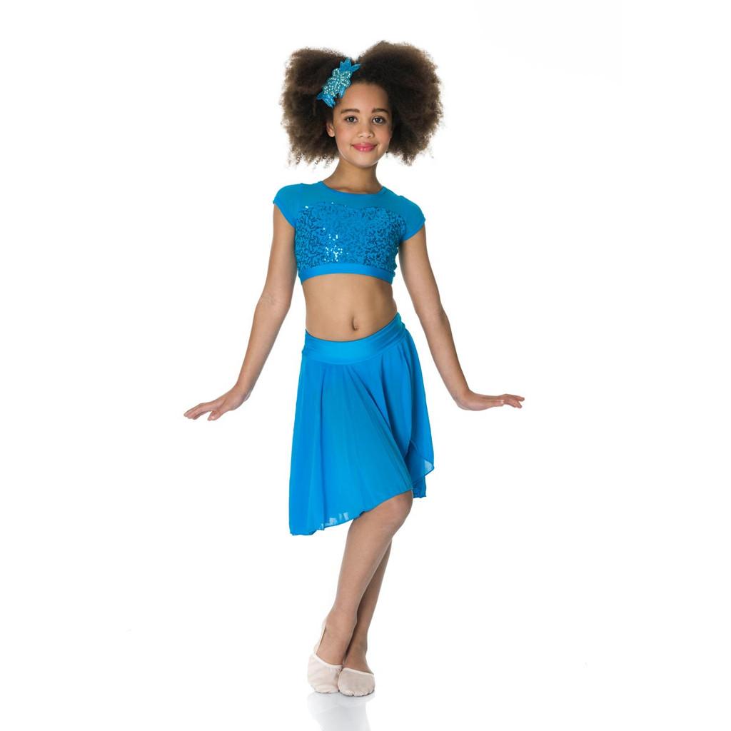 Studio 7 Dancewear Attitude Sequin Crop Top Ladies