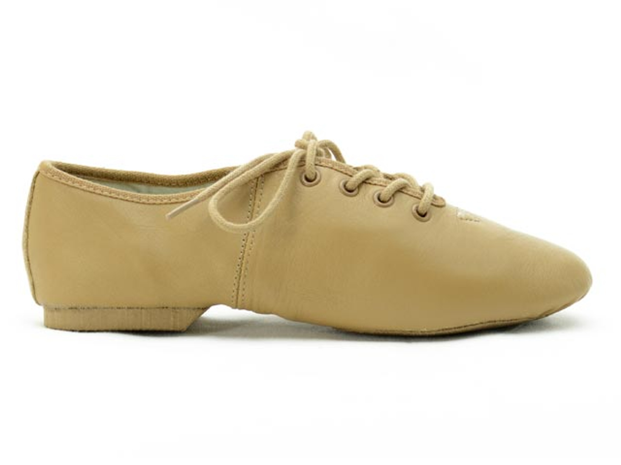 Dance Direct Jazz Shoes Split Sole Lace Up Leather