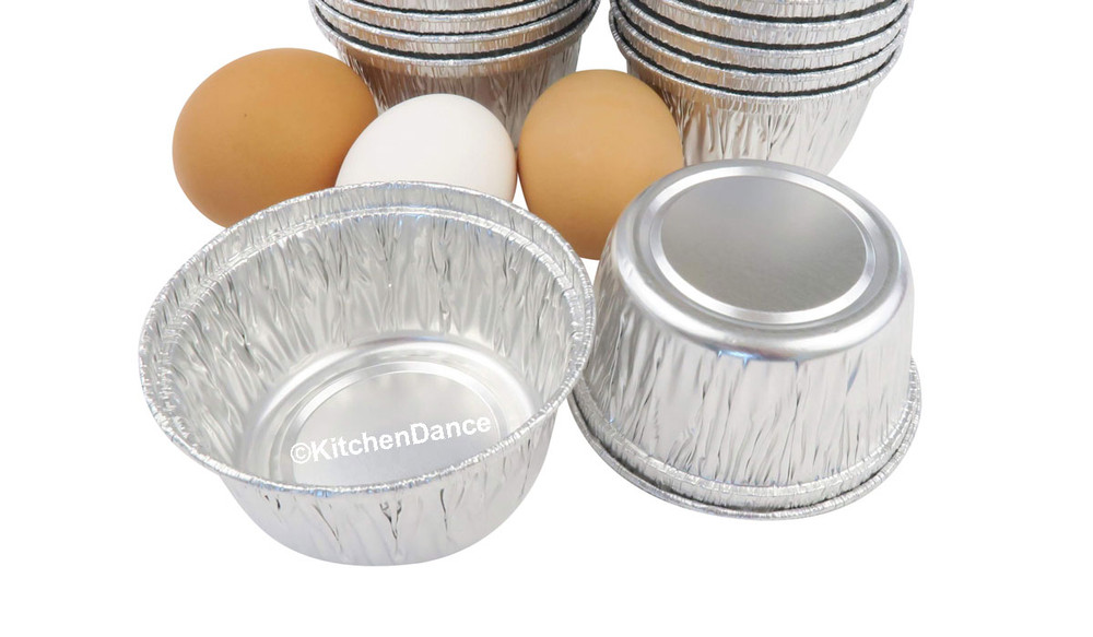 disposable aluminum foil 4 oz. individual serving size dessert cups, small baking cups