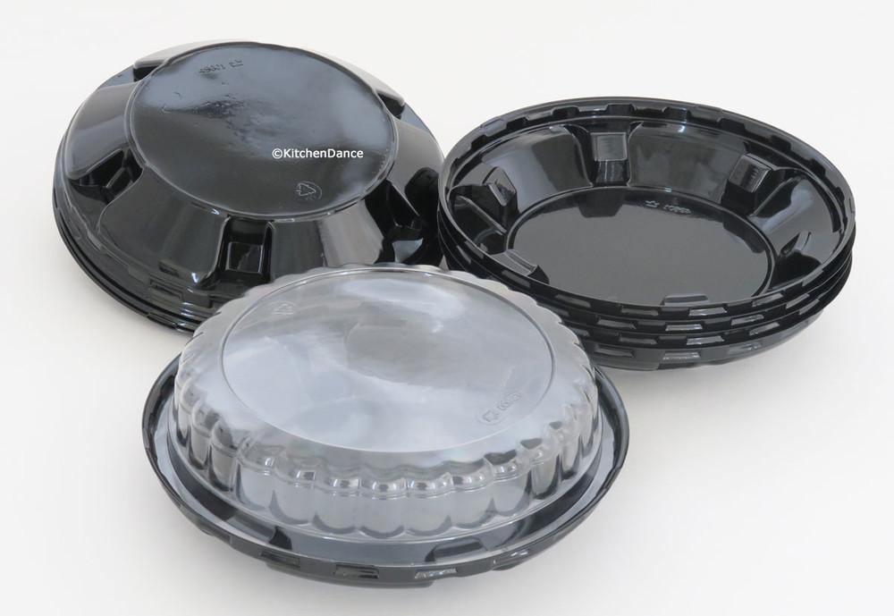 6 inch plastic pie container