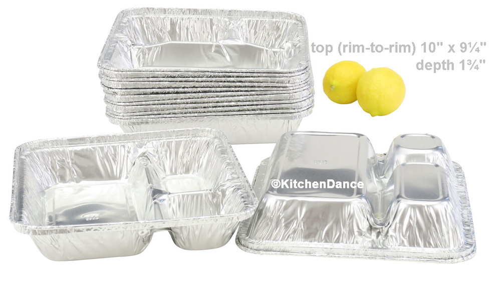 disposable aluminum foil 3 compartment tray, food service container, baking pan