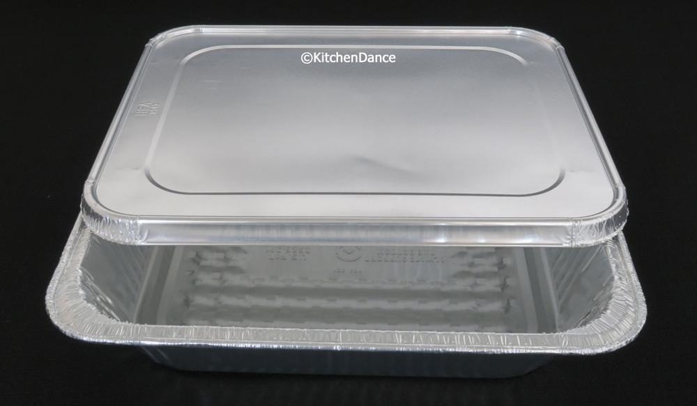 Combo Pack: Half-Size Steam Table Foil Pan with Foil Lid - Deep - #4200L